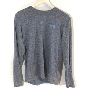 The North Face VaporWick Gray Long Sleeve Shirt S